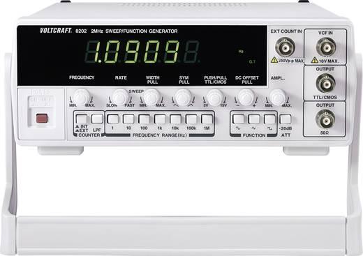 VOLTCRAFT® 8202 1-Kanal-Funktionsgenerator 0.02 Hz - 2 MHz Signal-Ausgangsform(en) Sinus, Rechteck, Dreieck, Rampe, Puls