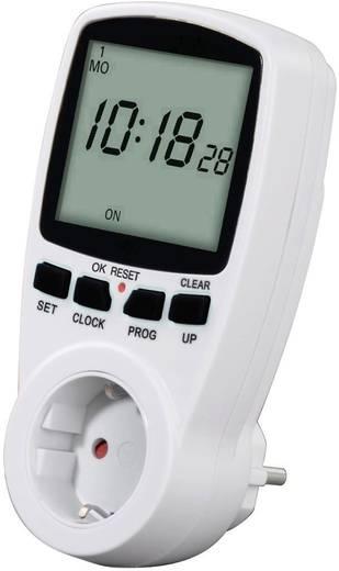 Steckdosen-Zeitschaltuhr digital Wochenprogramm Hama 00108838 3500 W IP20