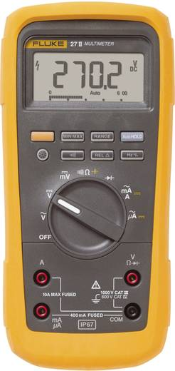 Hand-Multimeter digital Fluke 27II/EUR Kalibriert nach: ISO Wasserdicht (IP67) CAT III 1000 V, CAT IV 600 V Anzeige (Cou