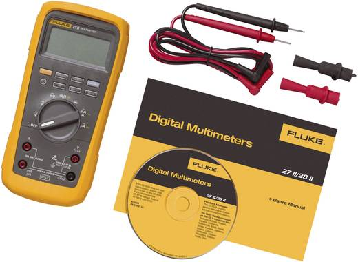 Hand-Multimeter digital Fluke 27II/EUR Kalibriert nach: DAkkS Wasserdicht (IP67) CAT III 1000 V, CAT IV 600 V Anzeige (C