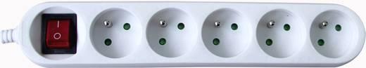 Steckdosenleiste mit Schalter 5fach Weiß FR-Stecker GAO DG-FB05KA