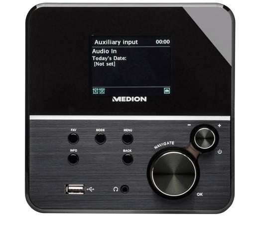 Internet Tischradio Medion P85040 (MD 86988) AUX, Internetradio, UKW DLNA-fähig Schwarz