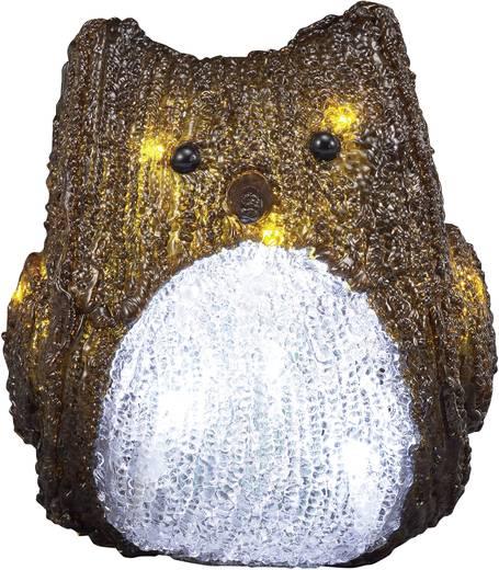 Polarlite LBA-52-003 Acryl-Figur Eule Kalt-Weiß LED Braun