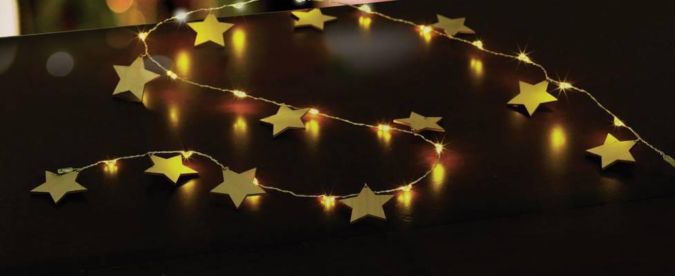 Polarlite LBA-04-007 Motiv-Lichterkette Sterne