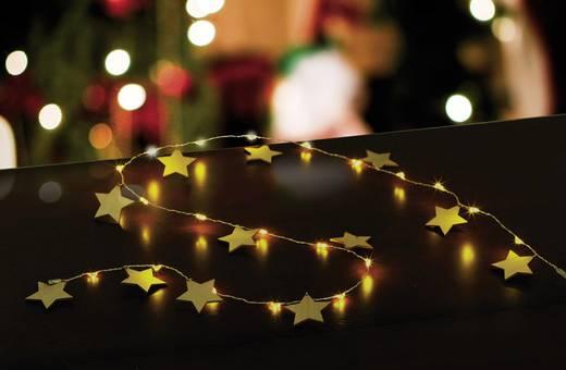 Motiv-Lichterkette Sterne Innen batteriebetrieben LED Warm-Weiß Beleuchtete Länge: 1 m Polarlite LBA-04-007