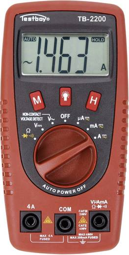 Hand-Multimeter digital Testboy TB-2200 Kalibriert nach: Werksstandard CAT II 400 V, CAT III 300 V Anzeige (Counts): 2000