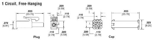 TE Connectivity 172233-1 Buchsengehäuse-Kabel Universal-MATE-N-LOK Polzahl Gesamt 2 Rastermaß: 4.20 mm 1 St.