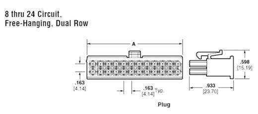 Stiftgehäuse-Kabel Universal-MATE-N-LOK Polzahl Gesamt 22 TE Connectivity 770586-1 1 St.