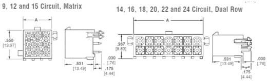 TE Connectivity Stiftgehäuse-Platine Mini-Universal-MATE-N-LOK Polzahl Gesamt 9 1-770182-1 1 St.