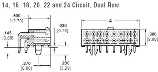 Stiftgehäuse-Platine Mini-Universal-MATE-N-LOK Polzahl Gesamt 18 TE Connectivity 1-794105-0 1 St.