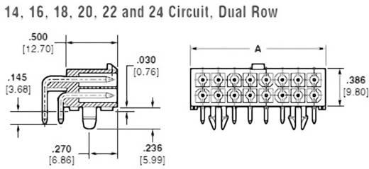 Stiftgehäuse-Platine Mini-Universal-MATE-N-LOK Polzahl Gesamt 20 TE Connectivity 1-794106-0 1 St.