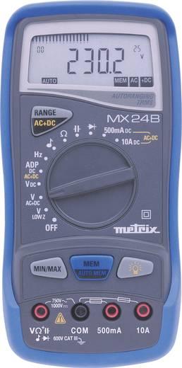 Metrix MX24 Hand-Multimeter digital Kalibriert nach: Werksstandard (ohne Zertifikat) CAT III 600 V Anzeige (Counts): 50