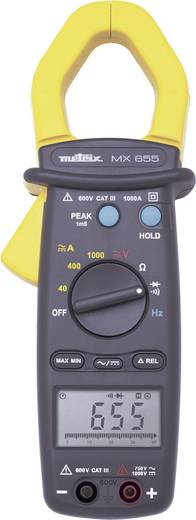 Stromzange, Hand-Multimeter Metrix MX0655 Kalibriert nach: Werksstandard (ohne Zertifikat) CAT III 600 V