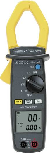 Stromzange, Hand-Multimeter Metrix MX0670 Kalibriert nach: Werksstandard (ohne Zertifikat) CAT III 1000 V, CAT IV 600