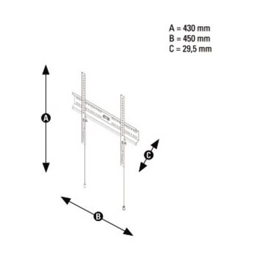 """TV-Wandhalterung 25,4 cm (10"""") - 142,2 cm (56"""") Starr Thomson WAB056"""