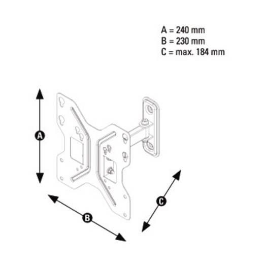 """TV-Wandhalterung 25,4 cm (10"""") - 116,8 cm (46"""") Neigbar+Schwenkbar, Rotierbar Thomson WAB746"""