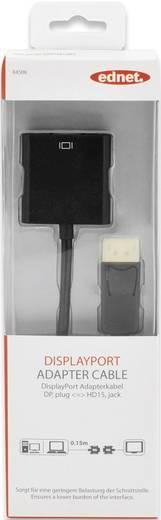 DisplayPort / VGA Anschlusskabel [1x DisplayPort Stecker - 1x VGA-Buchse] 0.15 m Schwarz ednet