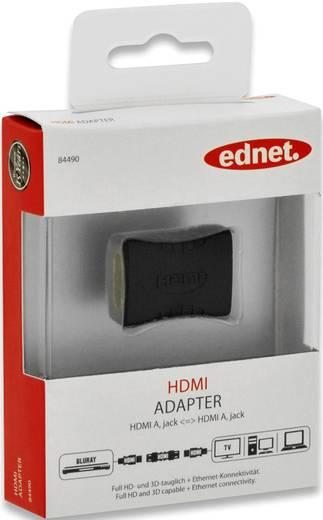 ednet HDMI Adapter [1x HDMI-Buchse - 1x HDMI-Buchse] Schwarz vergoldete Steckkontakte, Ultra HD (4k) HDMI, Audio Return