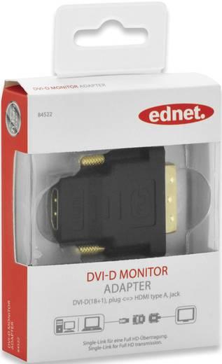 HDMI / DVI Adapter [1x HDMI-Buchse - 1x DVI-Stecker 18+1pol.] Schwarz schraubbar, vergoldete Steckkontakte ednet
