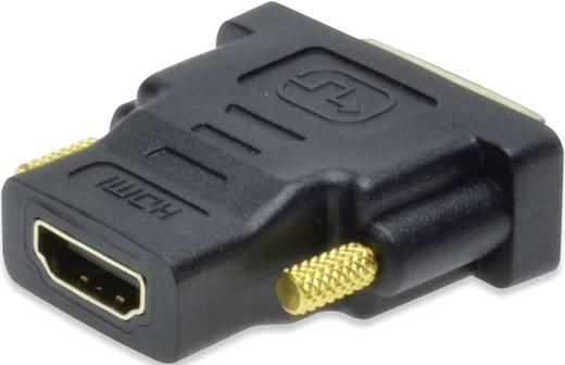 ednet HDMI / DVI Adapter [1x HDMI-Buchse - 1x DVI-Stecker 18+1pol.] Schwarz schraubbar, vergoldete Steckkontakte