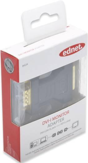 VGA / DVI Adapter [1x VGA-Stecker - 1x DVI-Buchse 24+5pol.] Schwarz schraubbar, vergoldete Steckkontakte ednet
