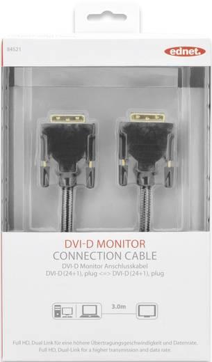 ednet DVI Anschlusskabel [1x DVI-Stecker 24+1pol. - 1x DVI-Stecker 24+1pol.] 3 m Schwarz