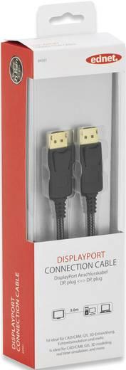 ednet DisplayPort Anschlusskabel [1x DisplayPort Stecker - 1x DisplayPort Stecker] 3 m Schwarz