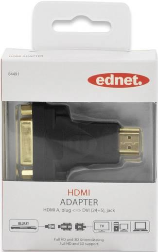 DVI / HDMI Adapter [1x HDMI-Stecker - 1x DVI-Buchse 24+5pol.] Schwarz vergoldete Steckkontakte, schraubbar ednet