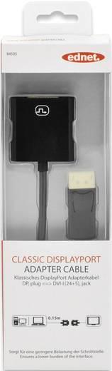 DisplayPort / DVI Anschlusskabel [1x DisplayPort Stecker - 1x DVI-Buchse 24+5pol.] 0.15 m Schwarz ednet