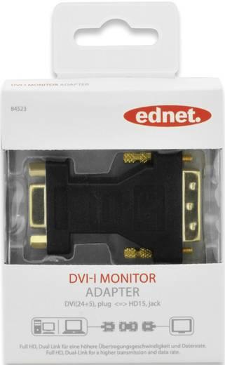 DVI / VGA Adapter [1x DVI-Stecker 24+5pol. - 1x VGA-Buchse] Schwarz schraubbar, vergoldete Steckkontakte ednet