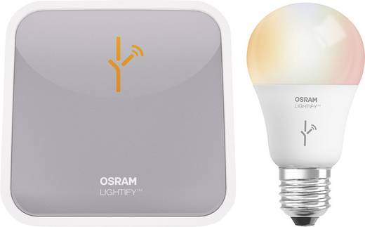 OSRAM Lightify Starterkit EEK: A+ (A++ - E) Starter KIT E27 10 W RGB, Warm-Weiß, Kalt-Weiß