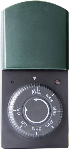 Steckdosen-Timer analog Tagesprogramm 2, 4, 6, 8 h GAO 823 1000 W IP44 Countdown-Funktion