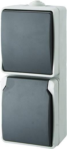 GAO Schalter/Steckdosen Kombination Standard Grau 9878