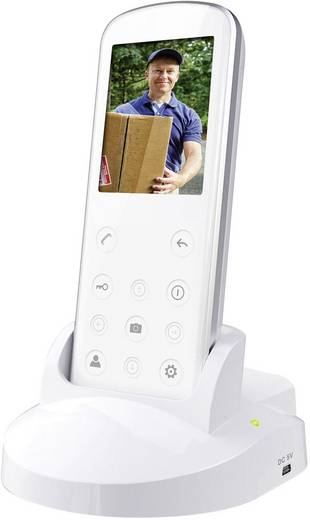 Video-Türsprechanlage Funk Komplett-Set Smartwares VD36W 1 Familienhaus