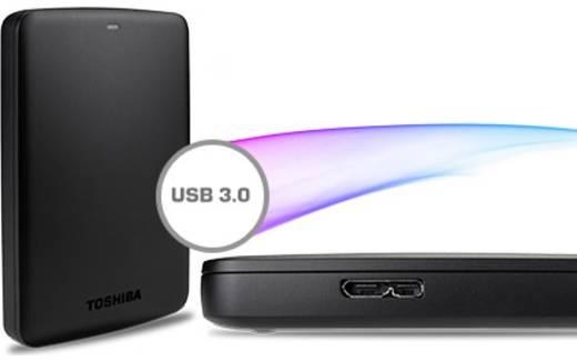 Externe Festplatte 6.35 cm (2.5 Zoll) 500 GB Toshiba Canvio Basics Matt Schwarz USB 3.0