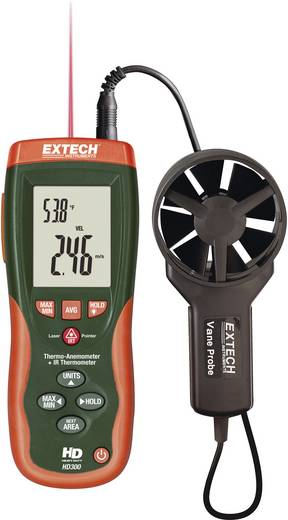 Anemometer Extech HD300 0.4 bis 30 m/s Kalibriert nach DAkkS