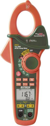 Stromzange, Hand-Multimeter digital Extech EX623 Kalibriert nach: Werksstandard IR-Thermometer CAT III 600 V Anzeige (Counts): 40000