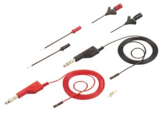 Messleitungs-Set [ Lamellenstecker 4 mm - Buchse 0.64 mm] 1 m Schwarz, Rot SKS Hirschmann PMS 0,64