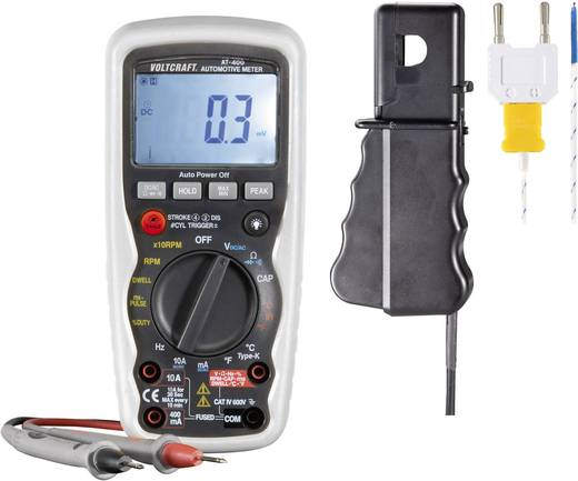 Hand-Multimeter digital VOLTCRAFT AT-400 Kalibriert nach: Werksstandard KFZ-Messfunktion CAT IV 600 V Anzeige (Counts): 4000