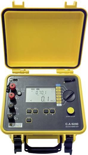 Chauvin Arnoux CA 6240 Microohm-Meter, CAT III 50 V Kalibriert nach ISO