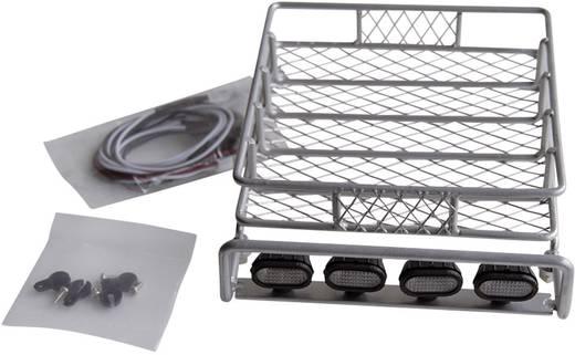 Amewi Dachgepäckträger mit 4 LEDs Silber