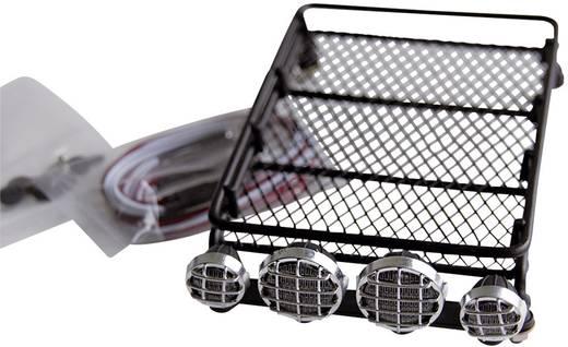 Amewi Dachgepäckträger mit 4 LEDs Schwarz