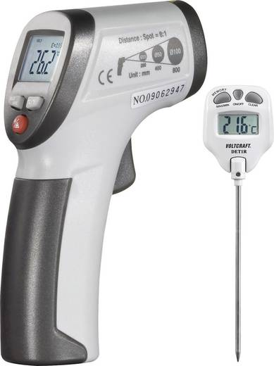 Infrarot-Thermometer VOLTCRAFT Komplet infracrveni termometar + ubodni termometar Optik 8:1 -30 bis +260 °C Kontaktmessu