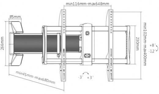 """TV-Wandhalterung 94,0 cm (37"""") - 177,8 cm (70"""") Neigbar+Schwenkbar, Rotierbar SpeaKa Professional 1232718"""