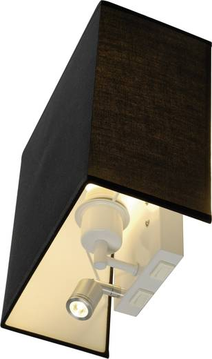 Wandleuchte E27 24 W Energiesparlampe, LED SLV Accanto 155670 Schwarz