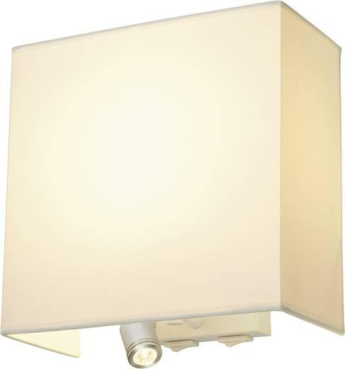 Wandleuchte E27 24 W Energiesparlampe, LED SLV Accanto 155673 Weiß