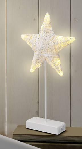 Tisch-Dekoration Stern Warm-Weiß LED Polarlite LBA-51-003 Weiß