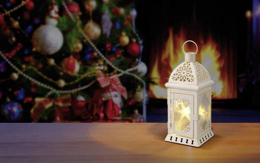 LED-Laterne Laternen Warm-Weiß LED Polarlite 1233511 Weiß