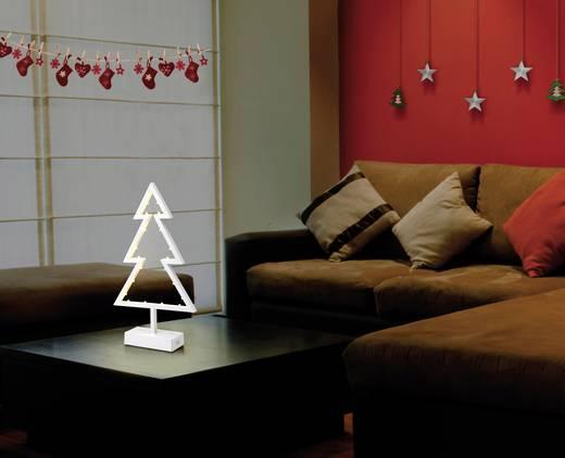 LED-Tannenbaum Weihnachtsbaum Warm-Weiß LED Polarlite 1233512 Weiß
