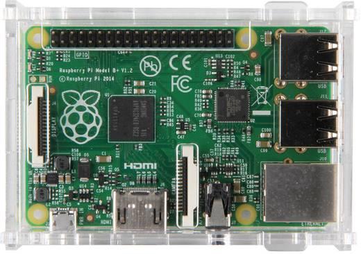 Raspberry Pi® B+ Gehäuse Transparent RB-Case+01 Raspberry Pi® B+, Raspberry Pi® 3 B+, Raspberry Pi® 3 B, Raspberry Pi® 2
